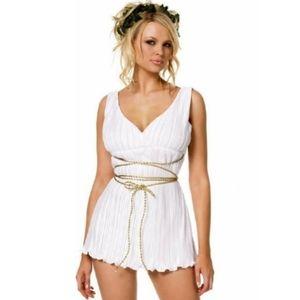 Leg Ave Greek Goddess Toga Dress Halloween Costume